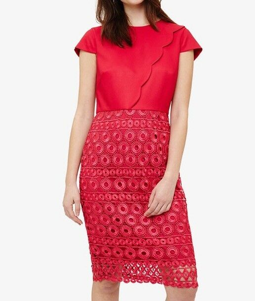 Phase eight Marlin Lace Dress hot Rosa. Größe UK14  Box51