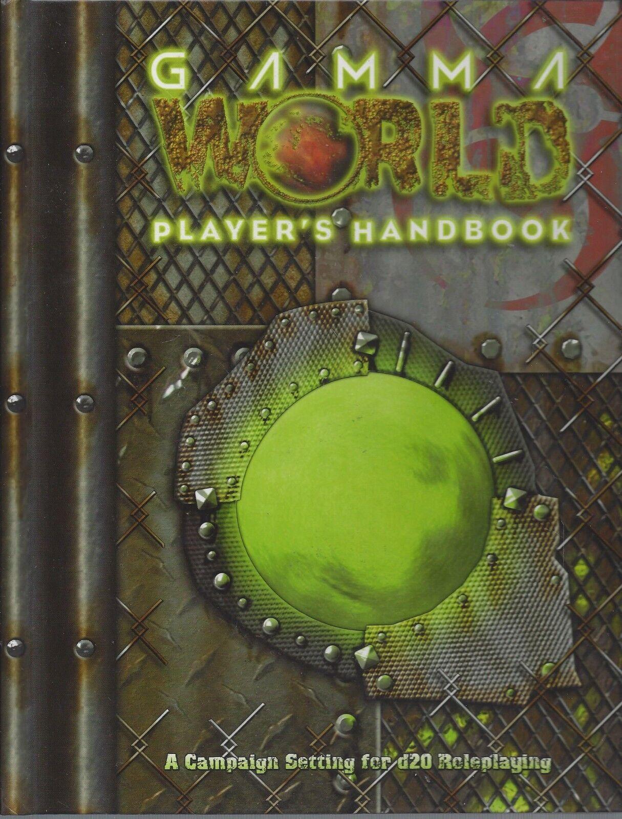 Gamma World RPG Players Handbook HC OOP NEW D20 Modern RPG D & D RPG 3.5 WW17250