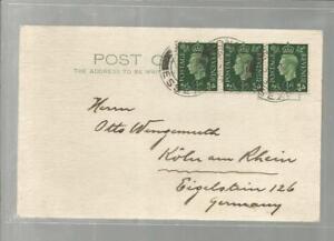 1938-3x-1-2D-King-George-Postage-Revenue-Essex-Koeln