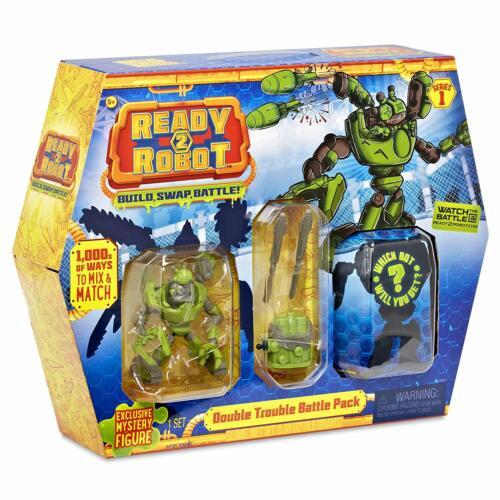 Ready 2 Robot Tag Team Battle Pack SERIES 1 Tank /& Mystère Bot Gratuite au Royaume-Uni affranchissement!