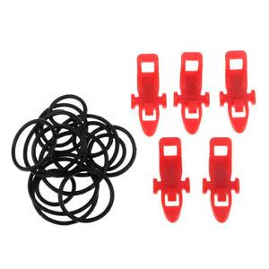 5-pezzi-di-canna-da-pesca-in-plastica-Easy-Hook-Keeper-Holder-Rod-clip