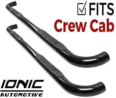 Ionic 3 Black 2015-Up Chevy Colorado GMC Canyon Crew Cab Only Nerf Bars Side Steps 204500 fits