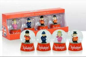 London-Schneekugel-4er-Queen-Guard-Policeman-Snowglobe-Great-Britain