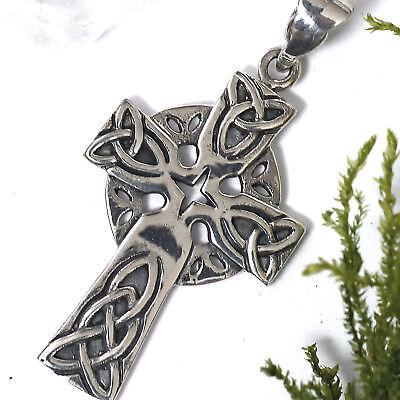 NEU 925 Silber Keltischer KREUZ ANHÄNGER Keltenkreuz KETTENANHÄNGER Celtic Cross