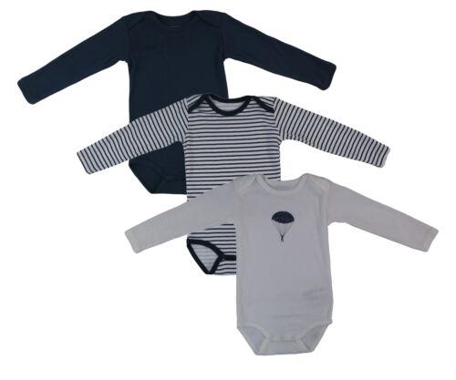 Name It 3er SET BODY Baby Kinder Jungen Bodys Einteiler Langarm Unterwäsche
