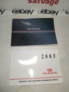 2005 Kia Sedona Owners / OWNER Manual BOOK / 05