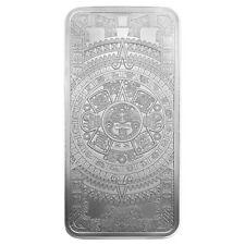 Golden State Mint Aztec Calendar 10 oz Silver Bar BU SKU58841