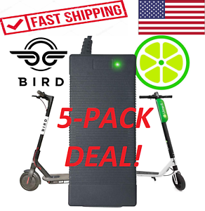 5-PACK-BIRD-LIME-Chargers-Electric-Scooter-Battery-Power-Pack-Charger-US-SELLER
