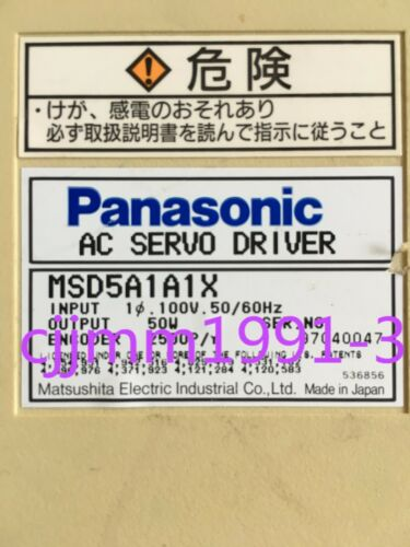 Details about  /1PC USED Panasonic Servo Driver MSD5A1A1X  #L1