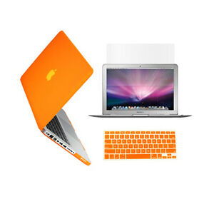 3-in-1-Rubberized-ORANGE-Case-for-Macbook-PRO-15-034-Keyboard-Cover-LCD-Screen