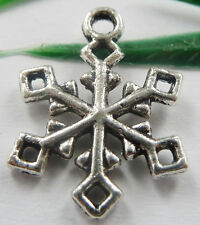 Wholesale free ship 70pcs tibet silver snowflake charms 20x15mm
