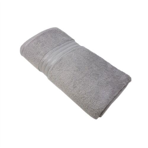 Luxus Gestreift Hotel Qualität 100/% Ägyptische Baumwolle Weich Silber Badetuch