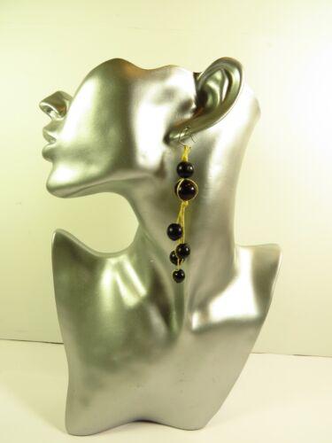 Ohrhänger Ohrringe schwarz Natur Vintage  Ohrschmuck  Holzschmuck Damen Neu