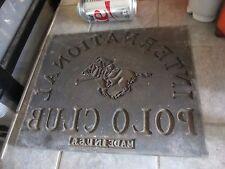 Vintage METAL INTERNATIONAL POLO CLUB Printing DIE Transfer STAMP PRESS Plate b