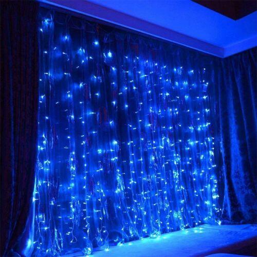 300 LED Vorhang String Fairy Light Weihnachten Hochzeit Beleuchtung Wasserfall