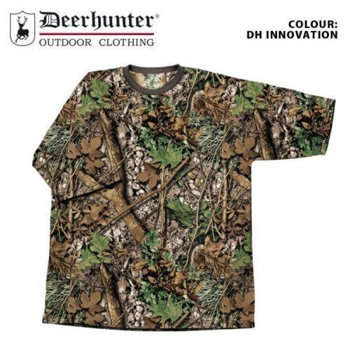 Childrens Kids Youths Boys Deerhunter Camo T-shirt Short Sleeve Shooting Fishing