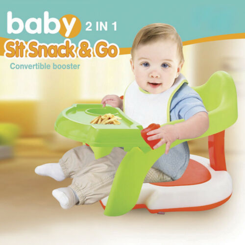2-in-1 Baby Bath Tub Chair Toddler Training Dinning Booster Chair&Green