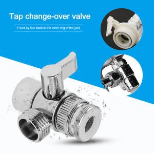 Kitchen Bath Brass Sink Valve Diverter Faucet Splitter Diverter To Hose Adapter Ebay