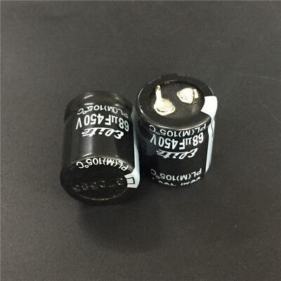 5pcs 68uF 450V 22x26mm ELITE PL 450V68uF Snap-in Electrolytic capacitor