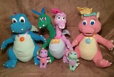 "Dragon Tales ord Cassie Zak & Wheezie talking light up 12"" plush lot set baby"