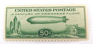 US-STAMP-SCOTTS-C18-1933-50c-GRAF-ZEPPELIN-MINT-NH-CRISP-COLOUR-NICE-1