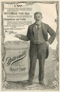 Buttermilk Toilet Soap 1895 Bathroom Hand Vintage Print Ad