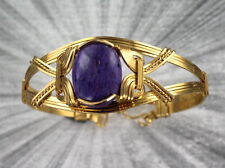 CHAROITE  GEMSTONE BRACELET  SETTING SIZE 6 1/2 - WIRE WRAPPED
