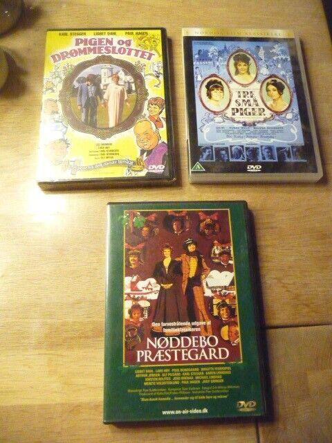 Tre små piger-Pigen og Drømmeslottet-Nøddebo Præst, DVD,