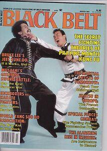 BLACK BELT MAGAZINE-MARCH,1984-VINTAGE BLACK BELT MAGAZINE-KUNG-FU