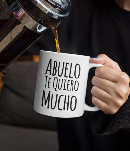 Regalo Para Abuelo Te Quiero Mucho Coffee Mug Taza De Cafe Cumplea�os Gift fo...
