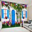3D Blue door 53 Blockout Photo Curtain Printing Curtains Drapes Fabric Window AU