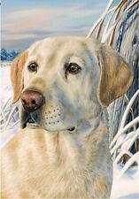 BreezeArt Garden Flag Yellow Lab Labrador Retriever dog for
