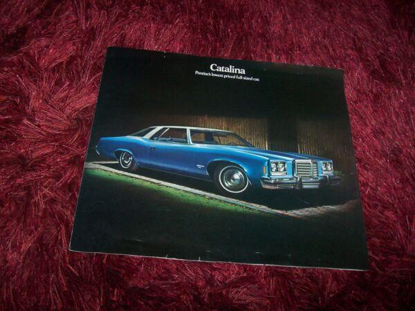 100% Waar Prospectus / Brochure Pontiac Catalina 1974 //