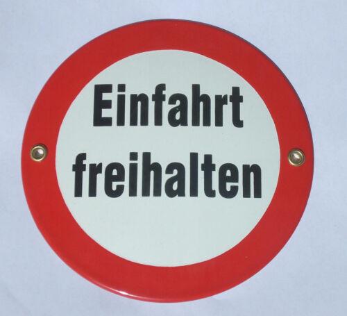 Emailleschild EINFAHRT FREIHALTEN Schild Emaille Emaile Metallschild NEU