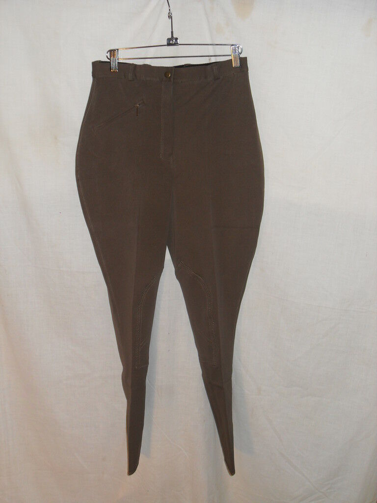 NEW TAUPE SHOW BREECH SIZE 28R CLARINO KNEE PATCH SHARP
