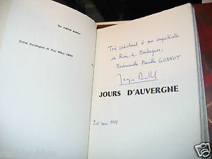 034-Jours-d-039-Auvergne-034-Jacques-MALLOUET-Edition-Originale-avec-Envoi-1-678-1975-ill