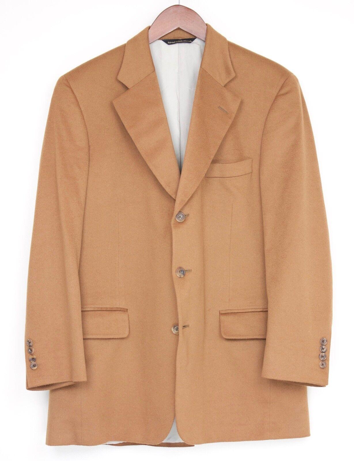 Samuelsohn Tailors Choice Cashmere Sport Coat 42R Vicuna Brown Ultra Soft