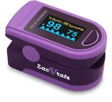 Zacurate 500D Purple Fingertip Pulse Oximeter Heart Rate Meter O2 Reader Monitor