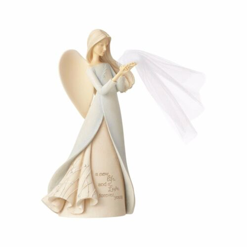 Details about  /New FOUNDATIONS Figurine BLESS THE BRIDE ANGEL Statue Crystal Wedding Gift