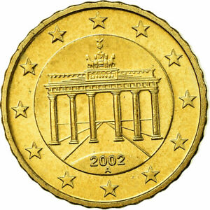 754511-GERMANY-FEDERAL-REPUBLIC-10-Euro-Cent-2002-MS-65-70-Brass