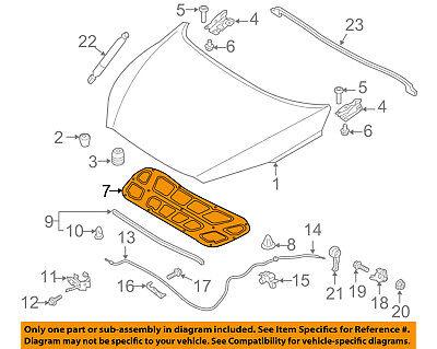 Hood-Insulation Pad Liner Heat Shield ⭐GENUINE⭐ 811251W000 for Kia Rio 2012-2017
