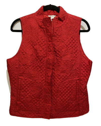 Christopher & Banks Womens Quilted Embroidered Pa… - image 1