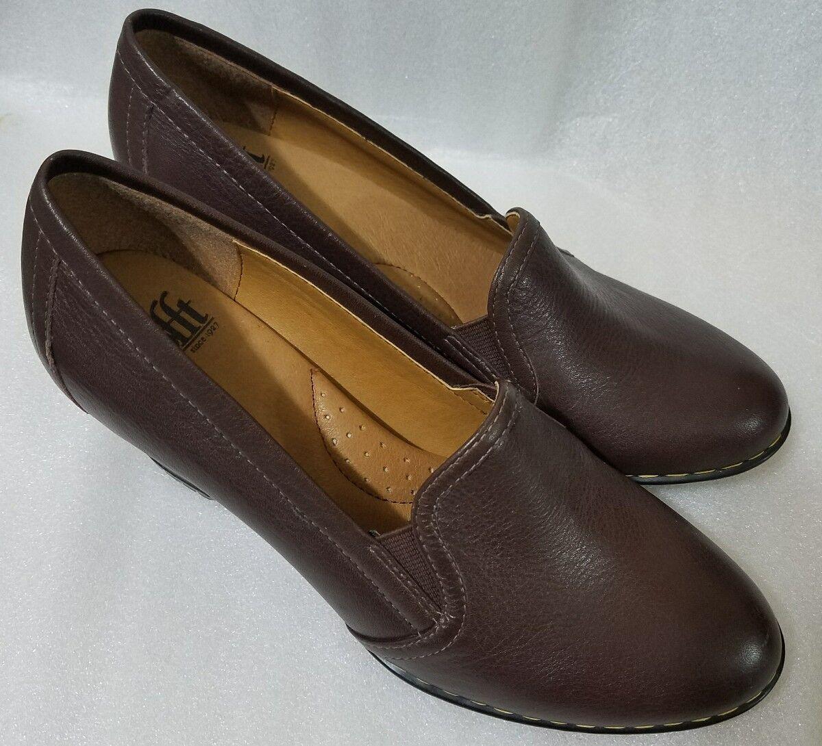 Sofft Woman Wedge Leather schuhe braun Größe 6