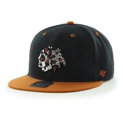 RR BNWT 47 Brand 47/' OFFICIAL NHL Chicago Blackhawks SNAPBACK CAP One Size Mens