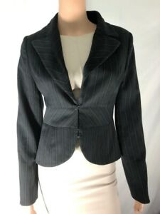 Authentic Marciano Women's Blazer Jacket Striped Black Slim Fit Size 6