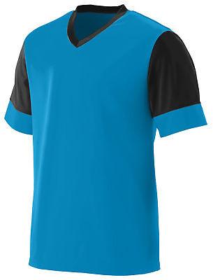 Augusta Sportswear Youth V Neck Polyester Lightning Jersey Sport T-Shirt 1601