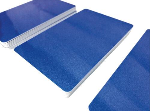 25 Plastikkarten DUNKELBLAU METALLICPremium QualitätPVC Karte