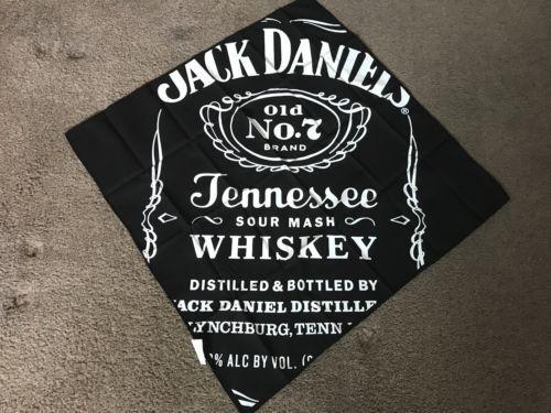 2 DIFFERENT JACK DANIELS  BRAND BANDANAS BNIP