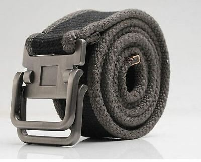 Latest trendy model alloy Loop buckle canvas belt for men