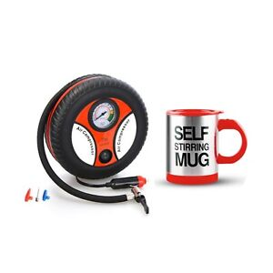 260PSI-Auto-Car-Electric-Tire-Inflator-with-Self-Stirring-Mug-Red